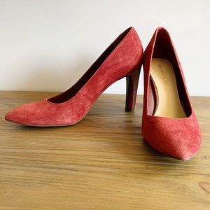 Shoes - Franco Sarto | Burgundy Suede Pumps